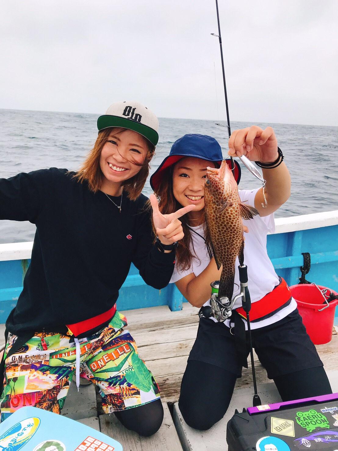 ガール 釣り